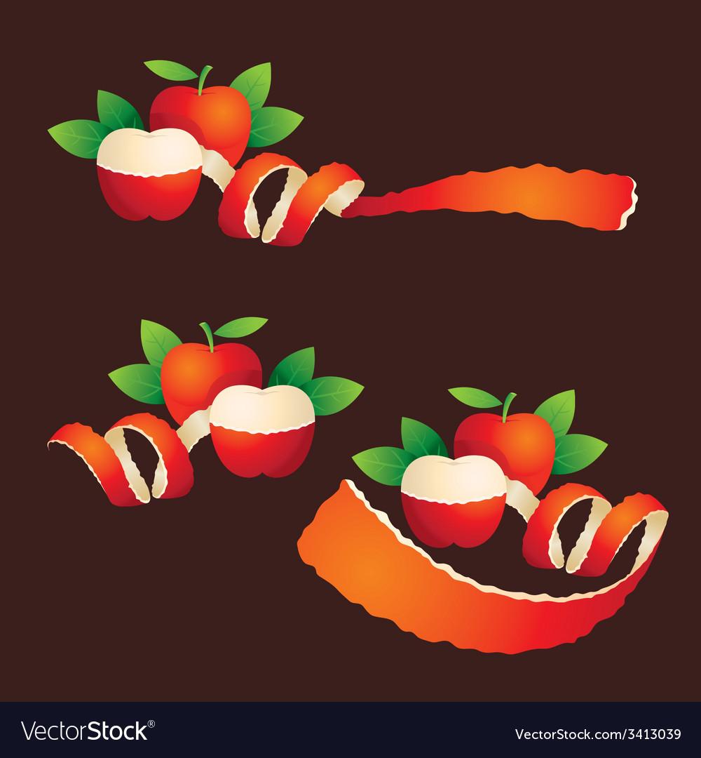 Peel apple ribbon like vector | Price: 1 Credit (USD $1)