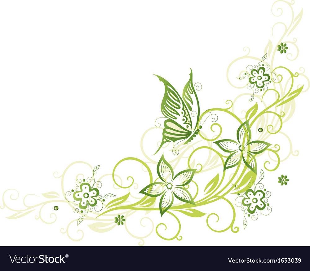 Spring floral element vector | Price: 1 Credit (USD $1)