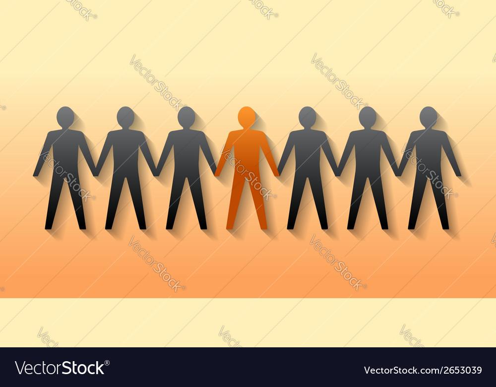 Team leader company boss teamwork vector | Price: 1 Credit (USD $1)