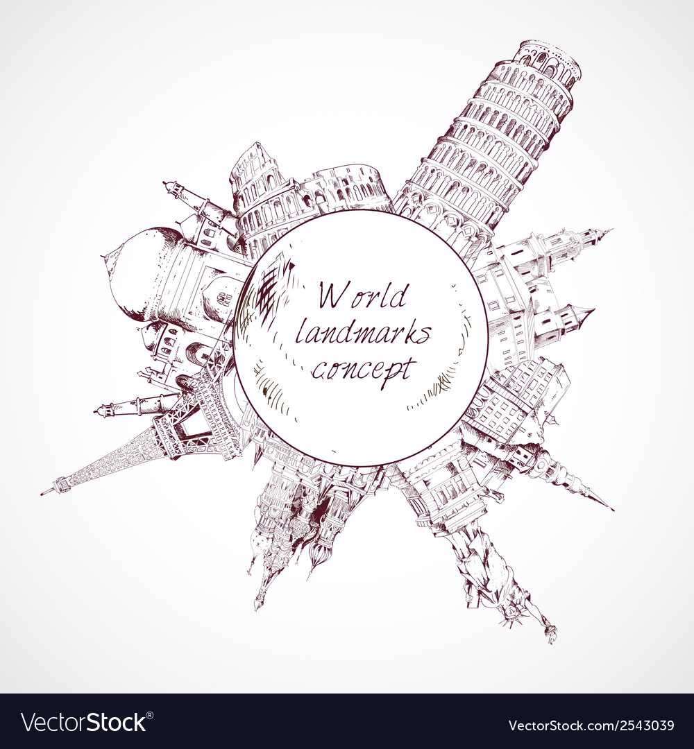 World landmark concept vector | Price: 1 Credit (USD $1)