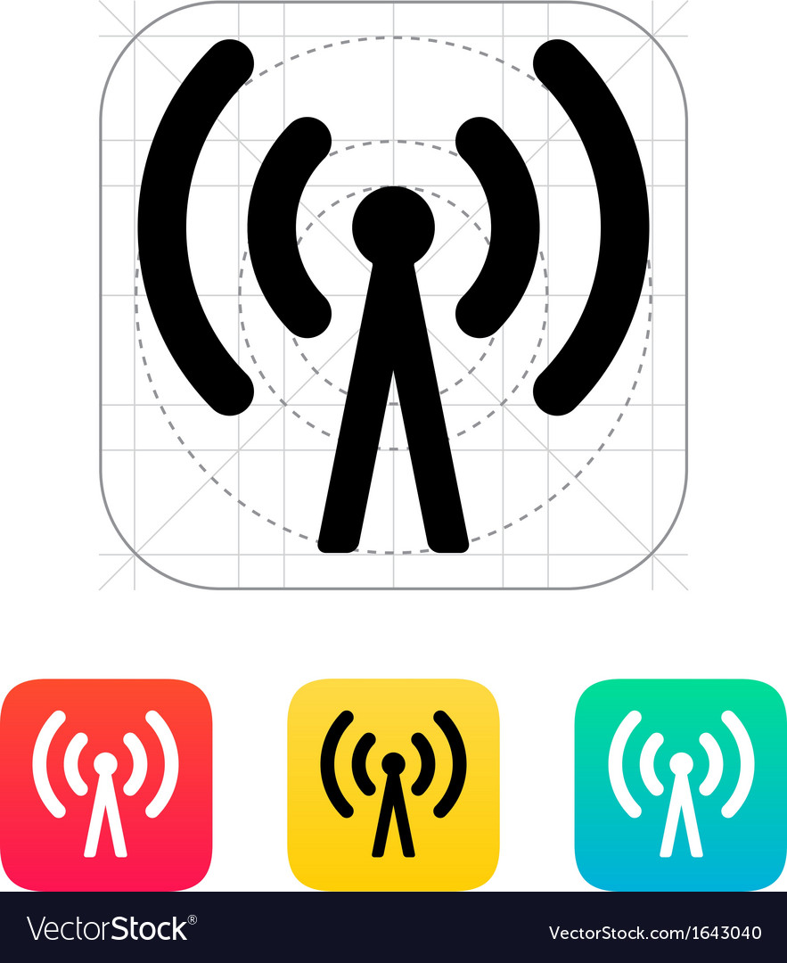Cell phone tower icon vector | Price: 1 Credit (USD $1)