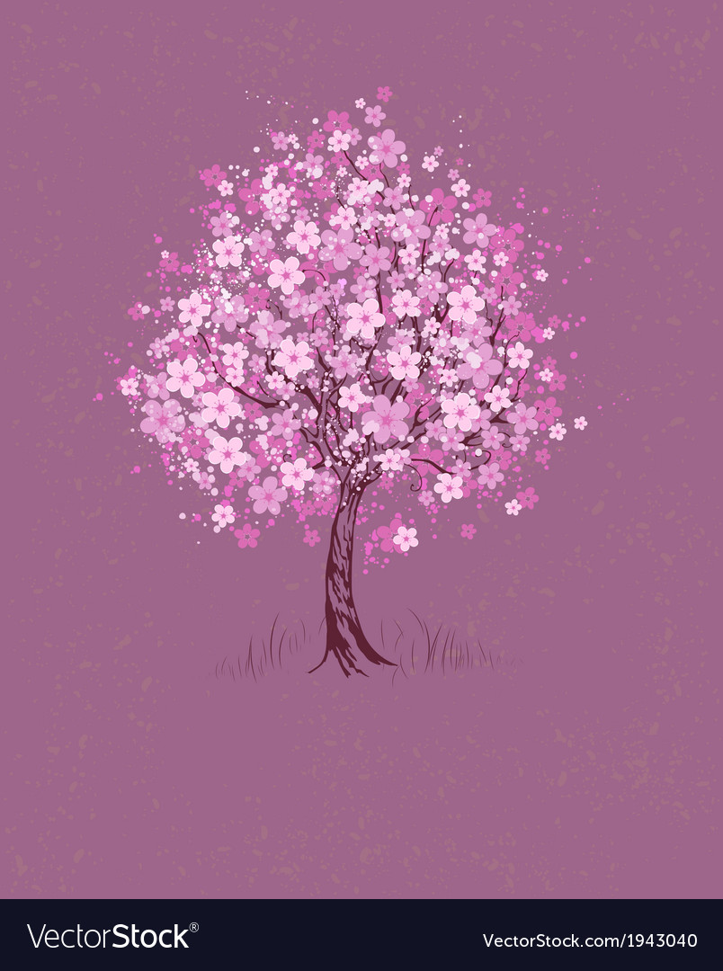 Cherry on pink background vector | Price: 1 Credit (USD $1)