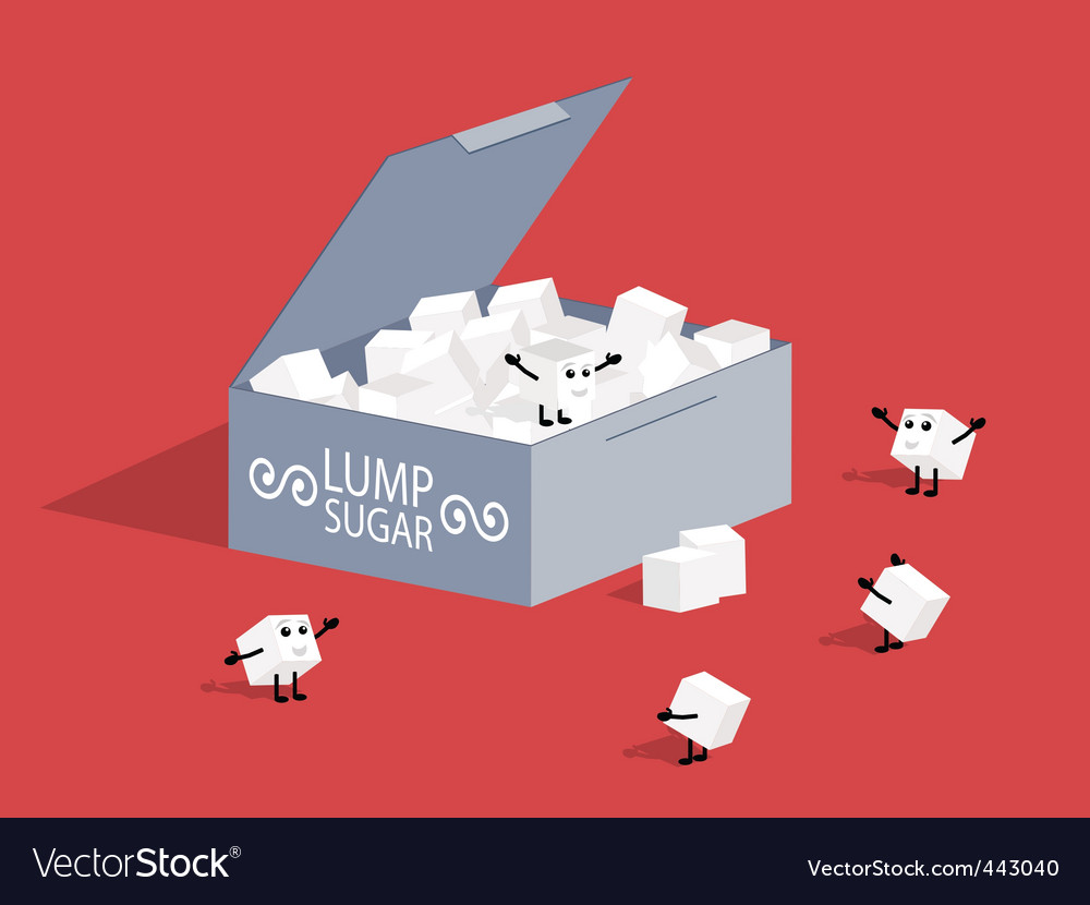 Lump sugar vector | Price: 1 Credit (USD $1)