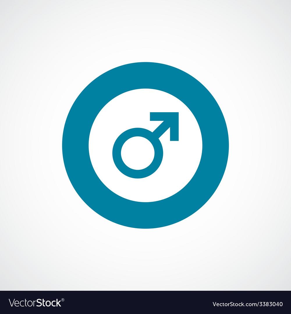Male sign bold blue border circle icon vector | Price: 1 Credit (USD $1)