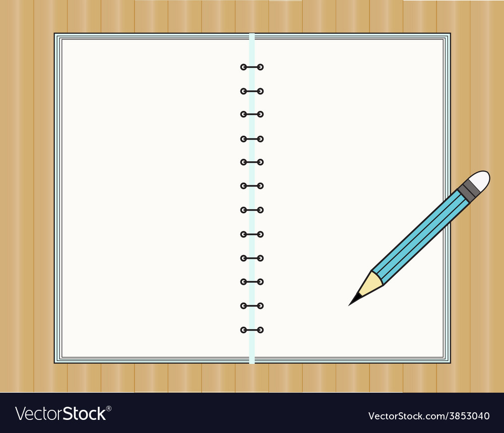 Notebook and pencil vector | Price: 1 Credit (USD $1)