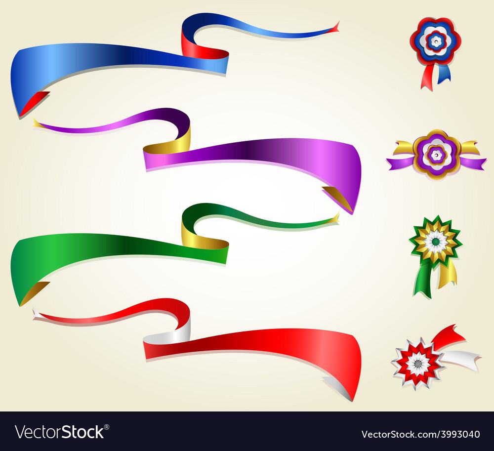Ribbon set 1 vector | Price: 1 Credit (USD $1)