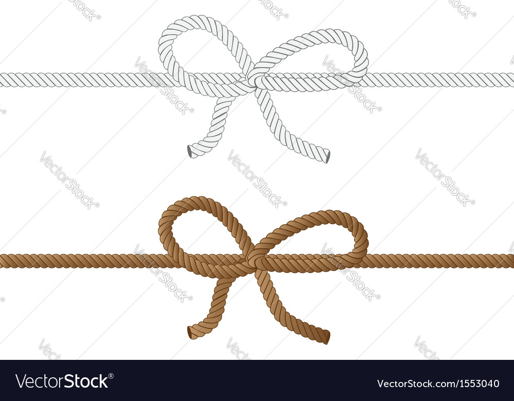 Rope bow2 vector | Price: 1 Credit (USD $1)