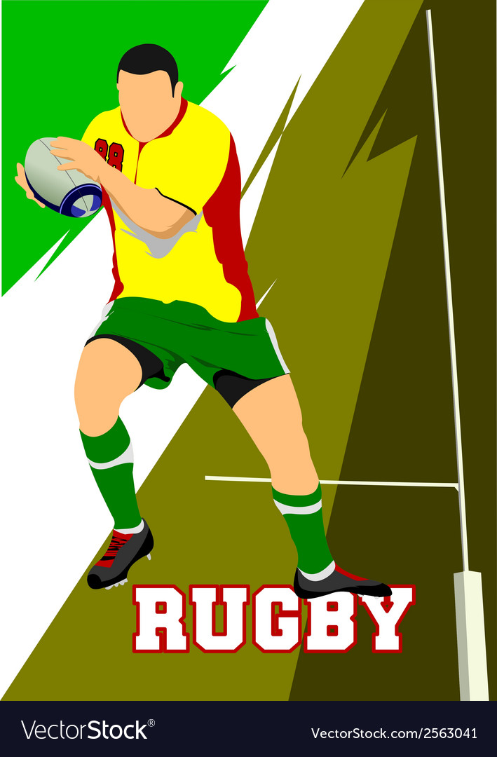 Al 1104 rugby 03 vector | Price: 1 Credit (USD $1)