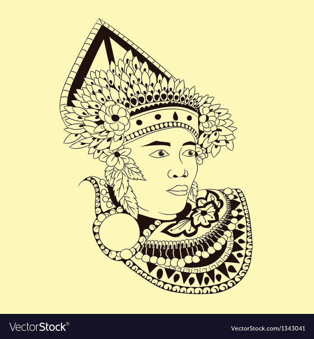 Baris dancers vector | Price: 1 Credit (USD $1)