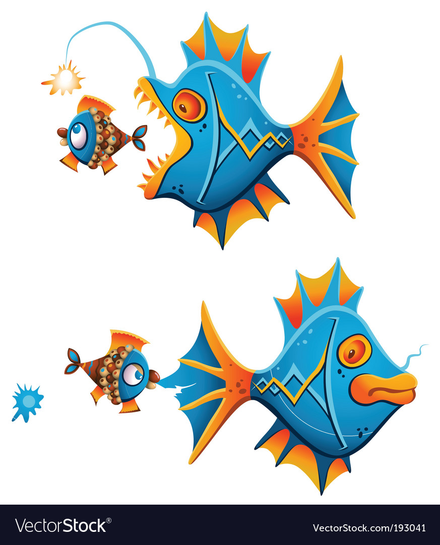 Catching fish vector | Price: 3 Credit (USD $3)