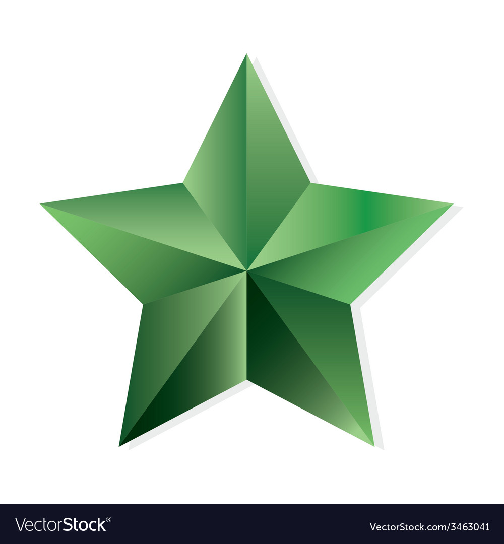 Emerald star isolated object vector | Price: 1 Credit (USD $1)