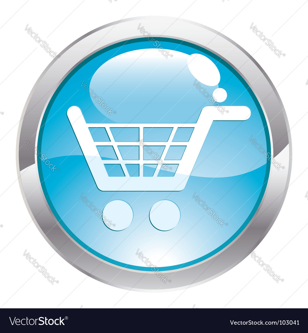 Gloss button with shopping cart vector | Price: 1 Credit (USD $1)