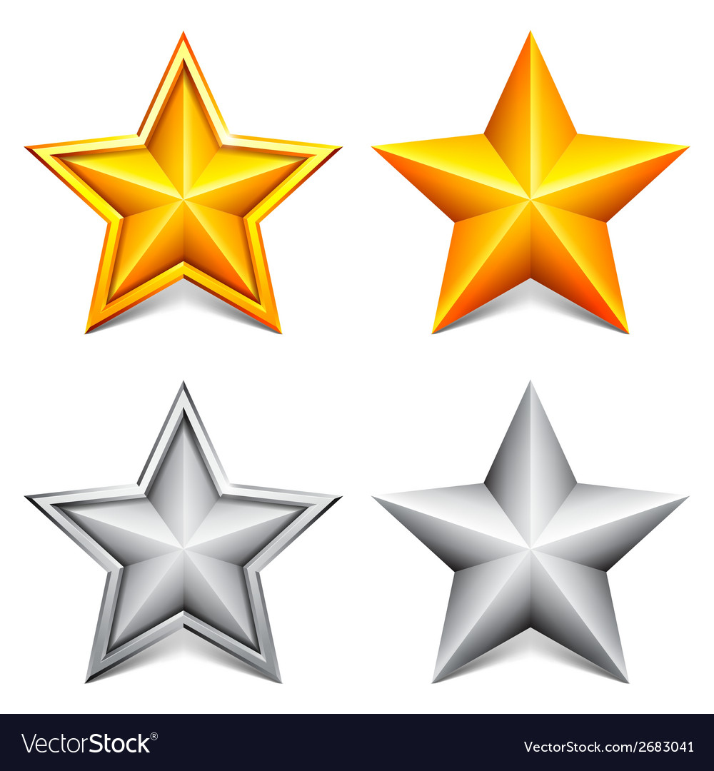 Golden and silver stars vector | Price: 1 Credit (USD $1)
