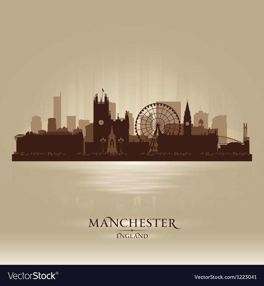 Manchester england skyline city silhouette vector | Price: 1 Credit (USD $1)