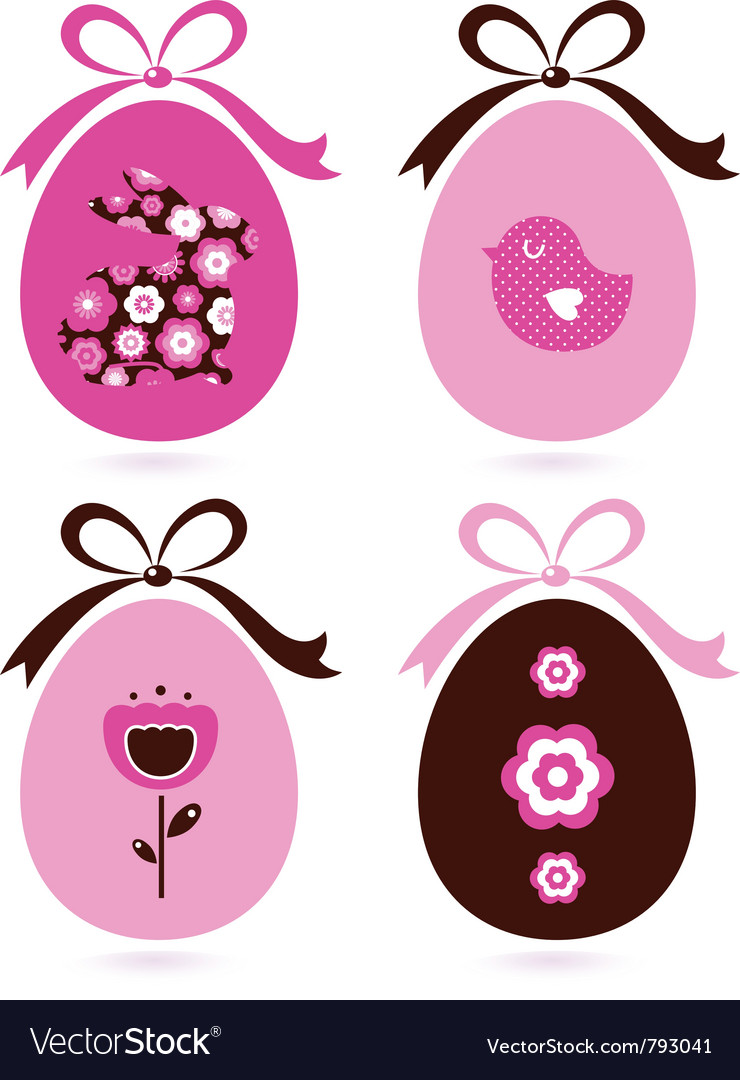 Retro easter eggs vector | Price: 1 Credit (USD $1)