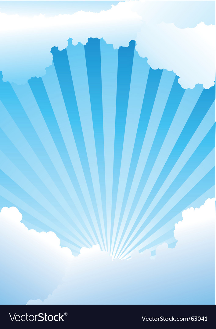 Sky with rays vector | Price: 1 Credit (USD $1)