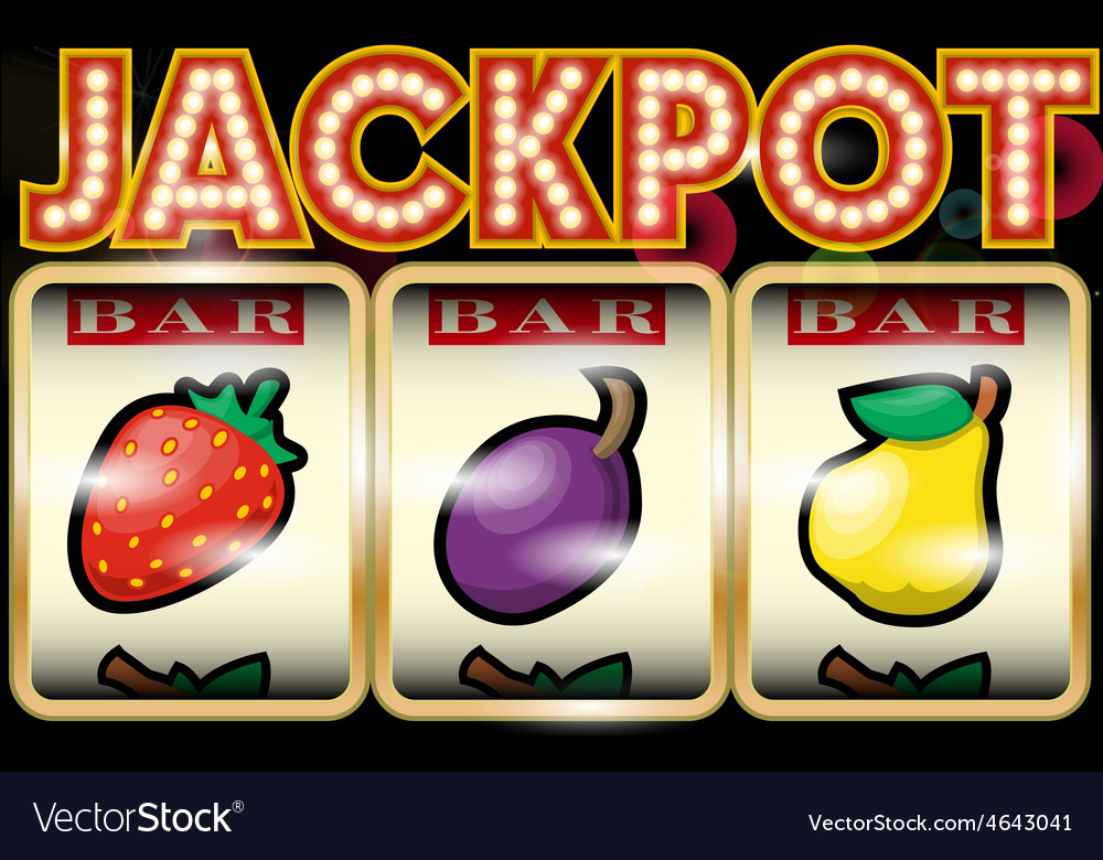 Slot machine jackpot vector | Price: 1 Credit (USD $1)