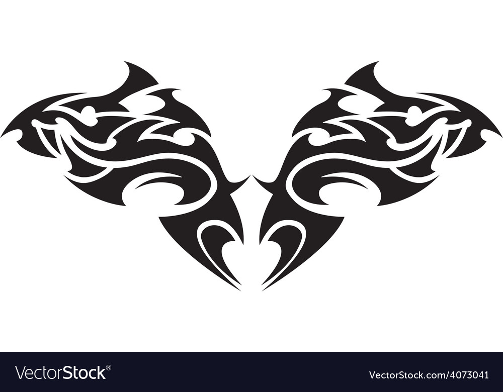 Tribal tattoo 1 vector | Price: 1 Credit (USD $1)