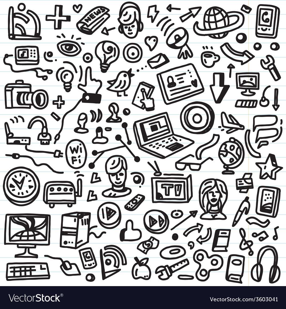Web doodles vector | Price: 1 Credit (USD $1)