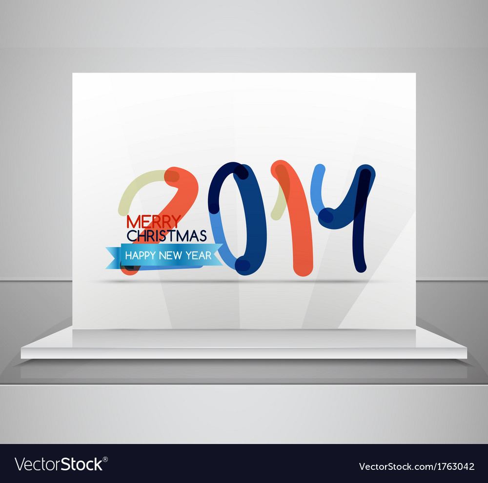 2014 happy new year design template vector | Price: 1 Credit (USD $1)