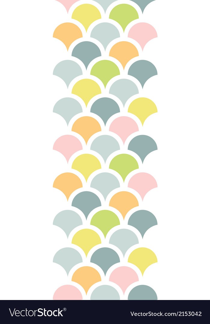 Abstract colorful fishscale vertical seamless vector | Price: 1 Credit (USD $1)