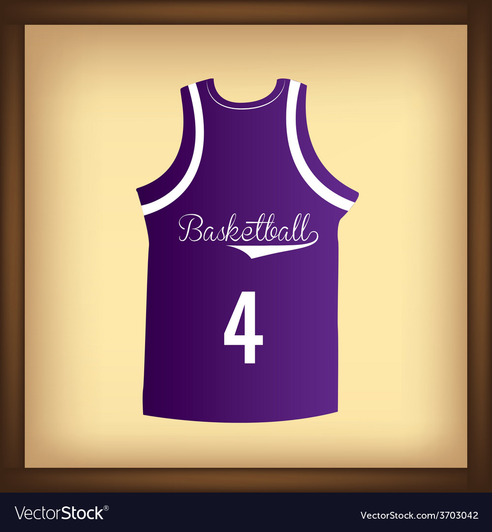 An isolated purple basketball shirt on a colored b vector   Price: 1 Credit (USD $1)
