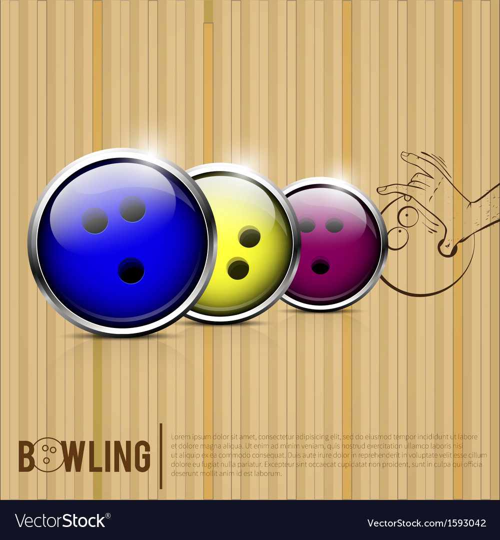 Bowling balls bowling alley vector | Price: 1 Credit (USD $1)