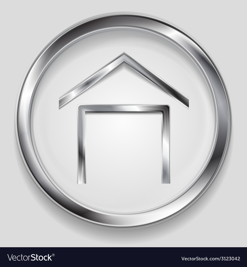 Concept metallic house symbol logo vector | Price: 1 Credit (USD $1)