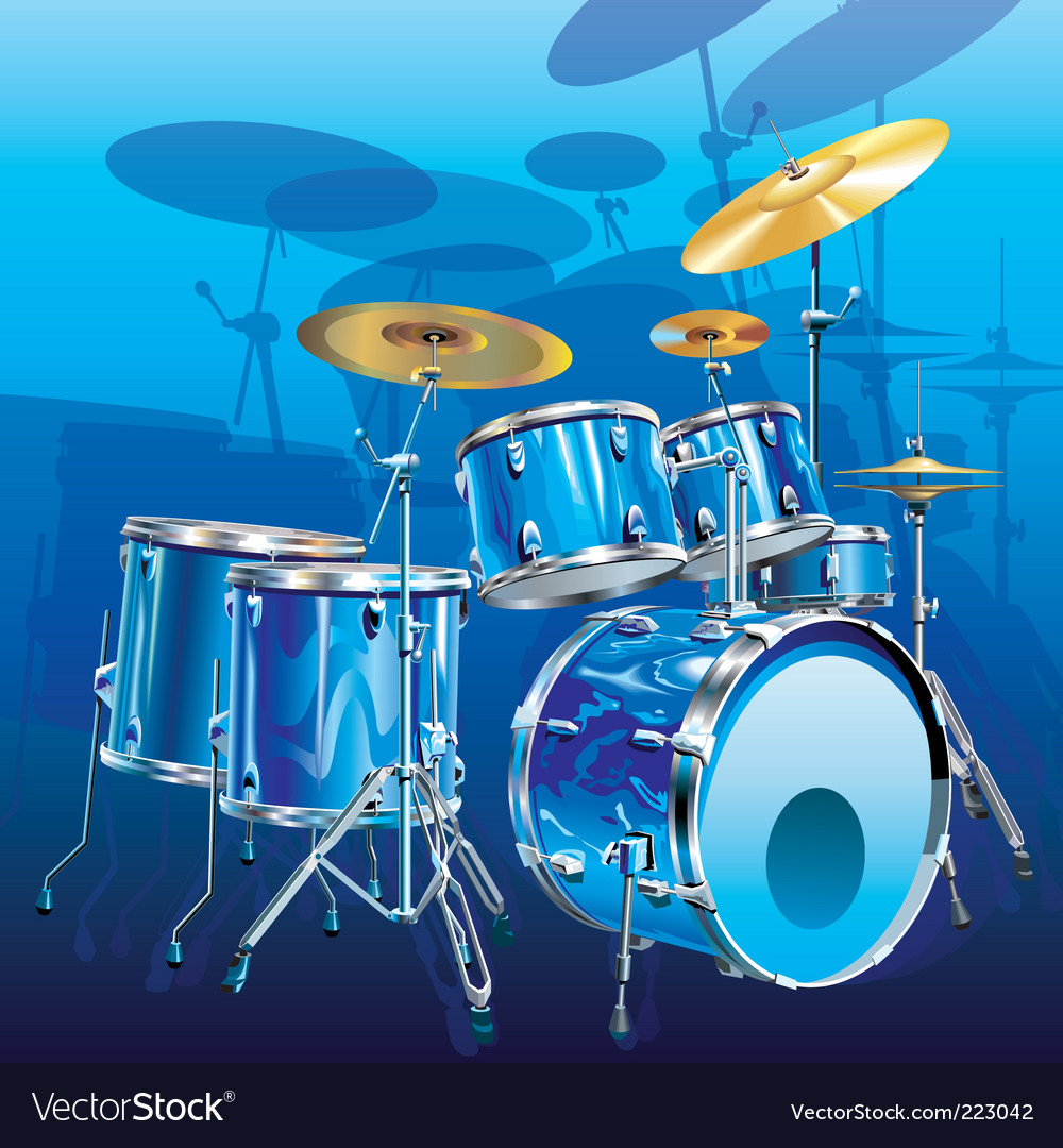 Drum kit vector | Price: 3 Credit (USD $3)
