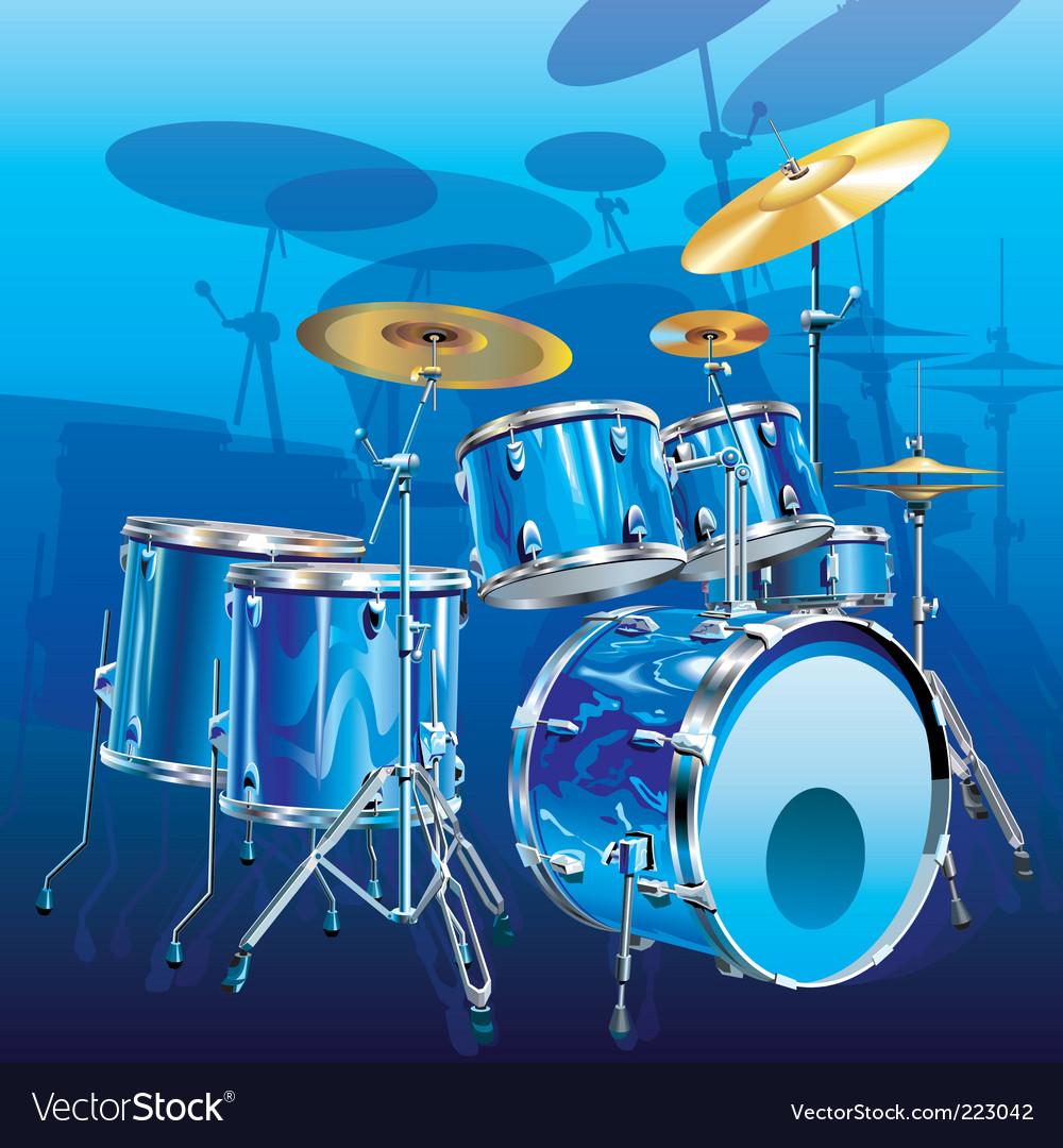 Drum kit vector | Price: 3 Credit (USD $3)