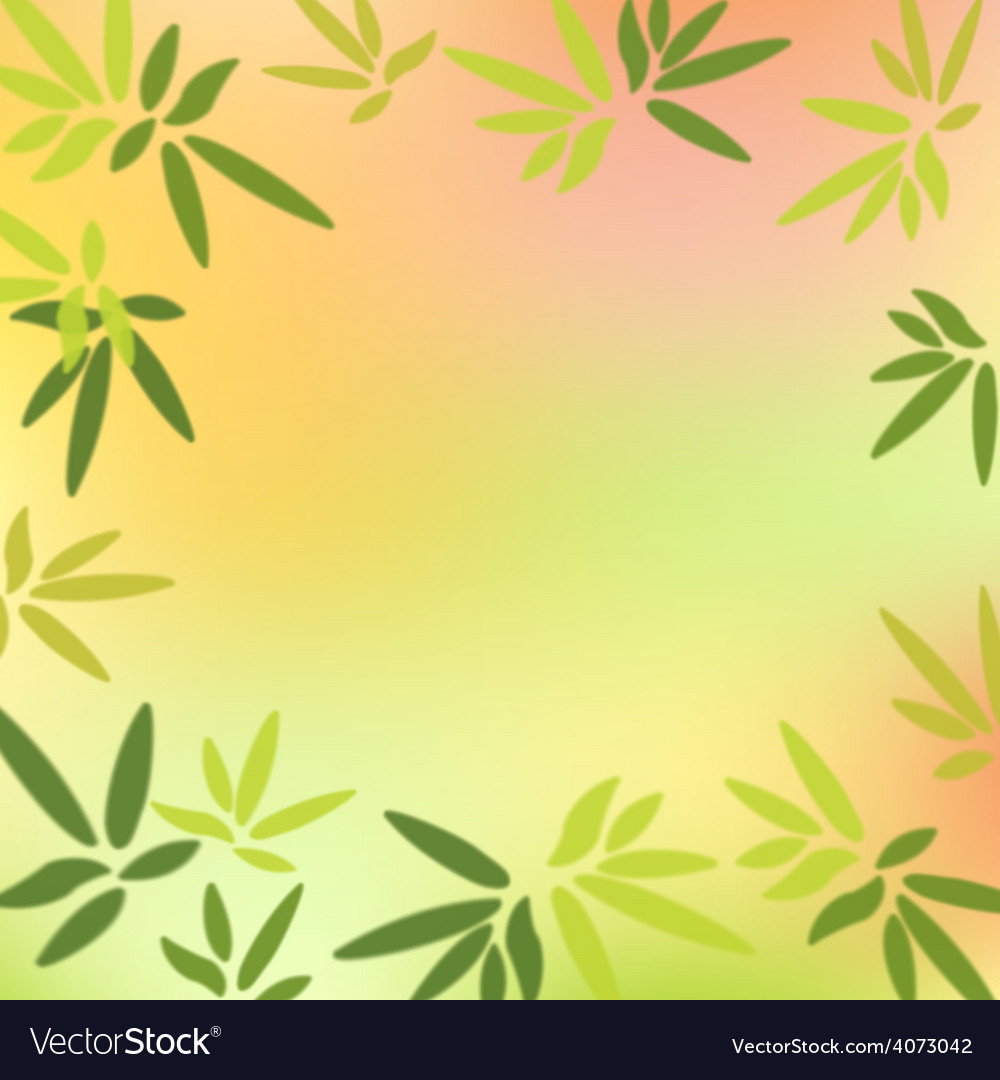 Green leaves on colorful background vector | Price: 3 Credit (USD $3)
