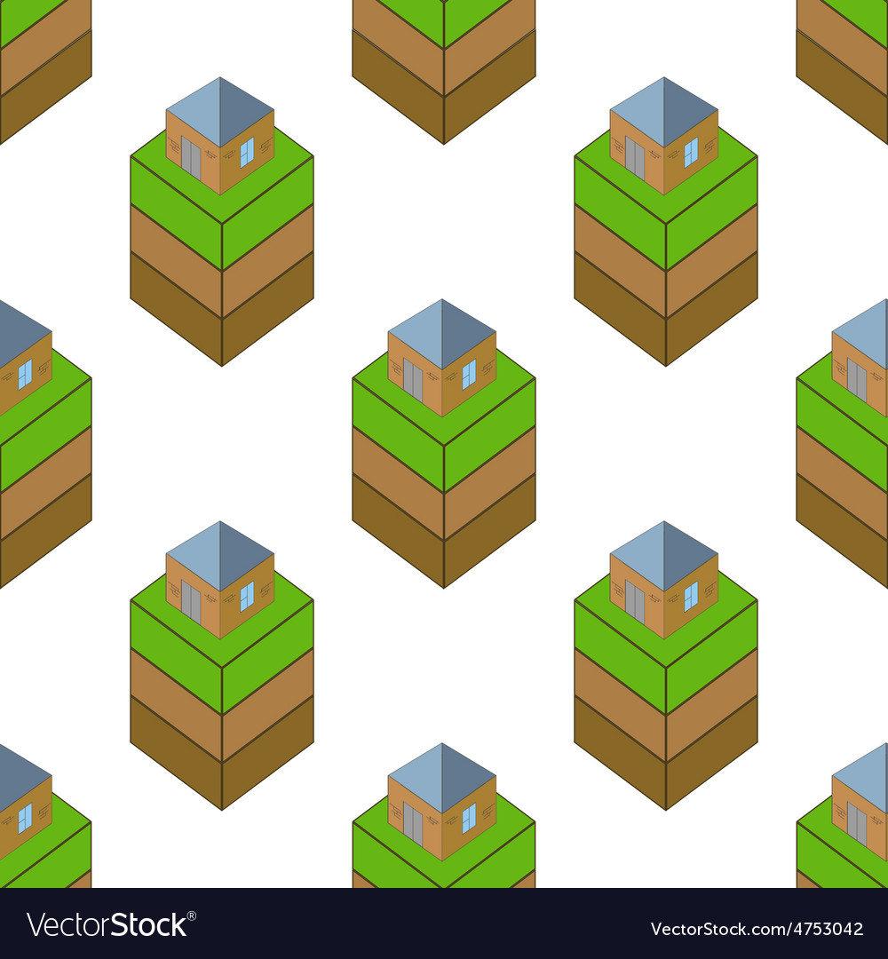 Ground with house pattern vector | Price: 1 Credit (USD $1)