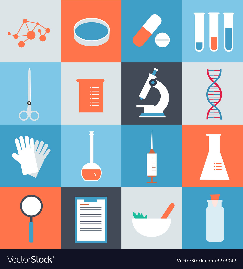 Icons medical laboratory vector | Price: 1 Credit (USD $1)