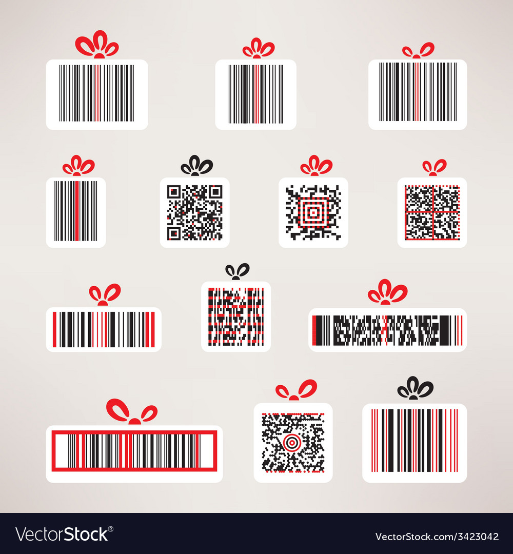 Present barcode image set template for your design vector | Price: 1 Credit (USD $1)