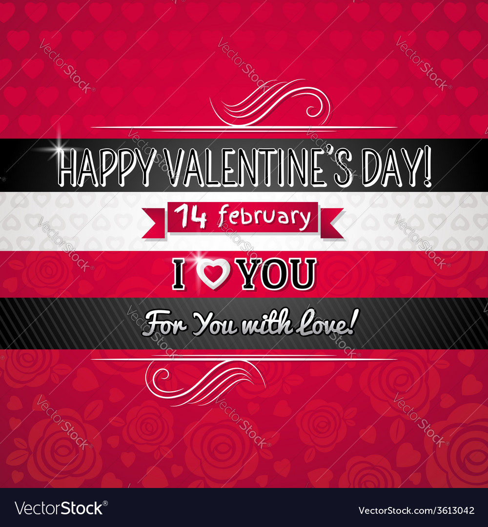 Red color background with valentine heart vector | Price: 1 Credit (USD $1)