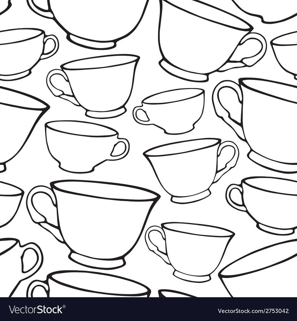 Seamless pattern with cups vector | Price: 1 Credit (USD $1)