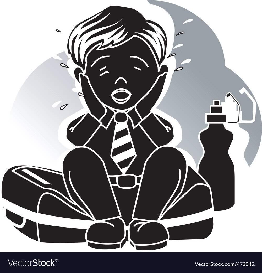 Silhouettes of boy vector | Price: 1 Credit (USD $1)