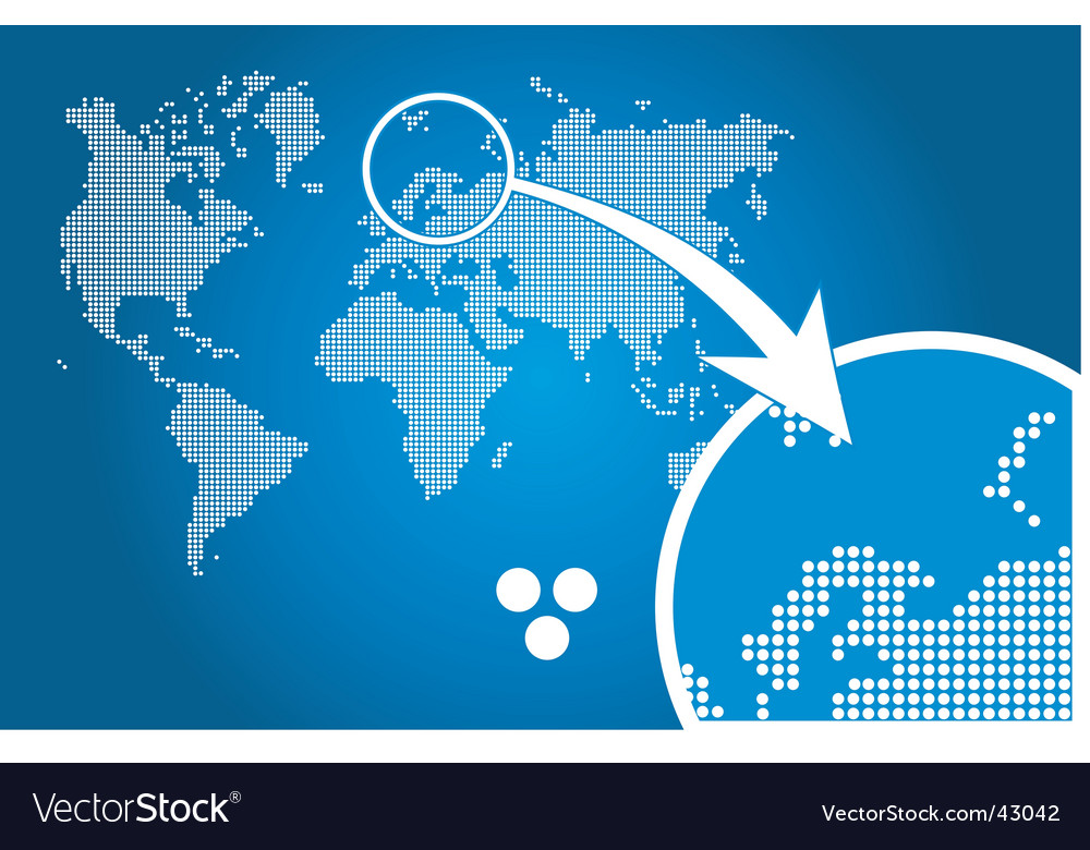 Stylish world map circle vector | Price: 1 Credit (USD $1)