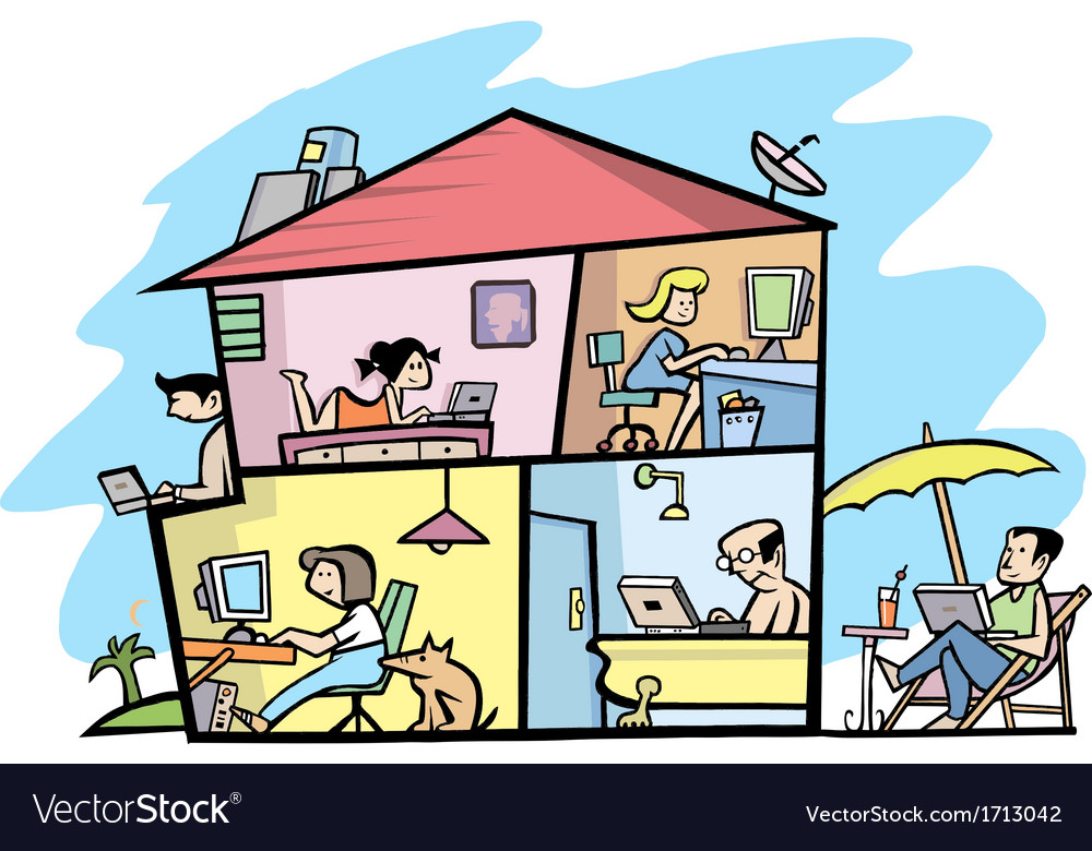 Wireless house vector | Price: 1 Credit (USD $1)