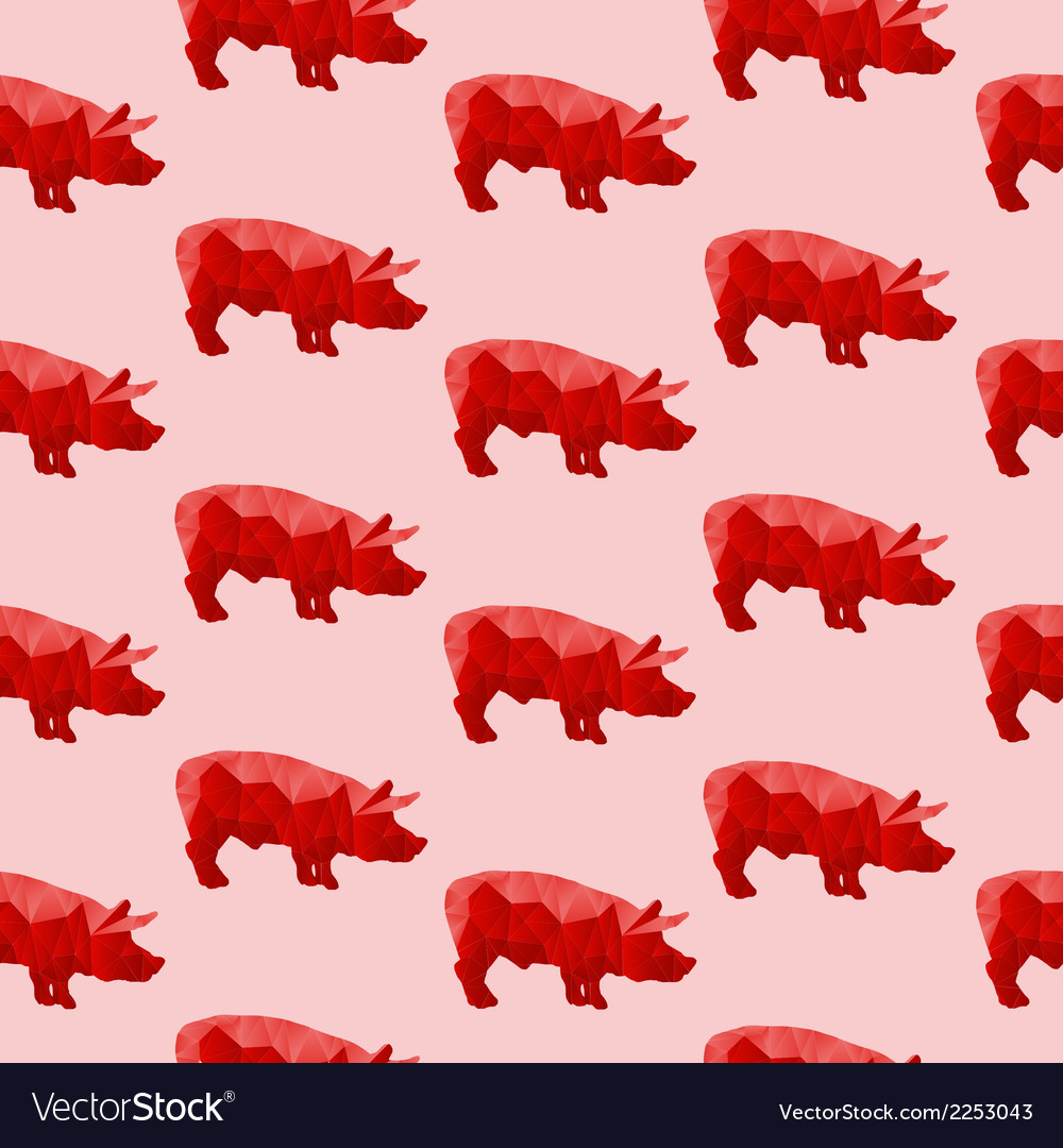 Abstract triangular pig vector | Price: 1 Credit (USD $1)