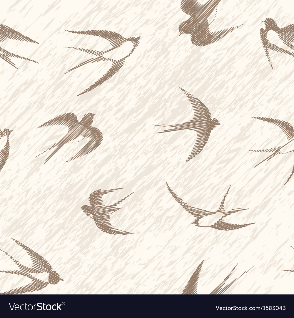 Bird swallow seamless vector | Price: 1 Credit (USD $1)
