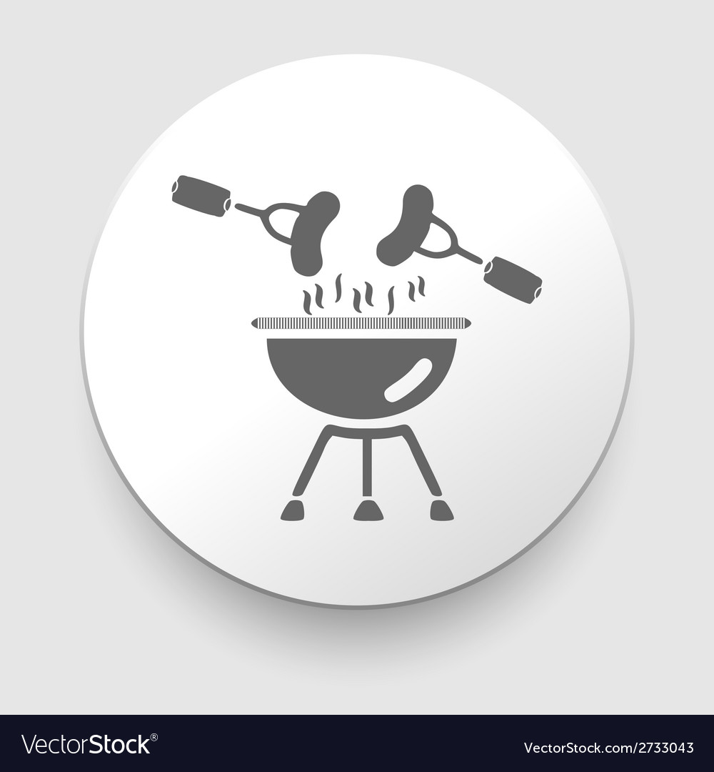 Black barbecue icon on gray vector | Price: 1 Credit (USD $1)