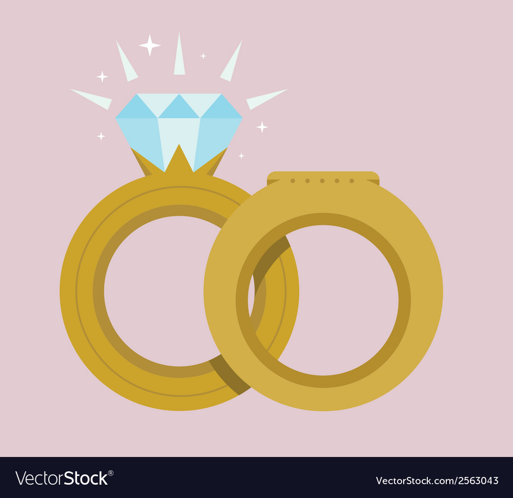 Gold wedding rings vector | Price: 1 Credit (USD $1)