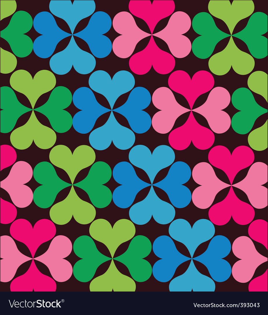Retro floral elements pattern vector | Price: 1 Credit (USD $1)