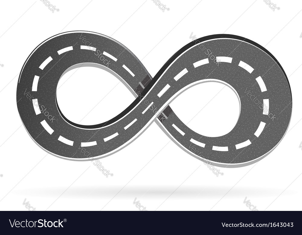Road in the shape of an infinity sign vector | Price: 1 Credit (USD $1)