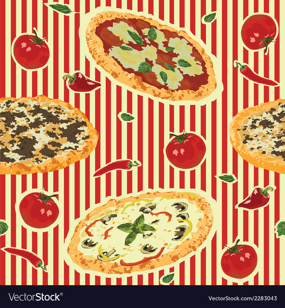 Seamless background with pizza vector | Price: 1 Credit (USD $1)
