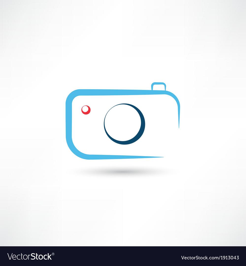 Simple blue camera icon vector | Price: 1 Credit (USD $1)