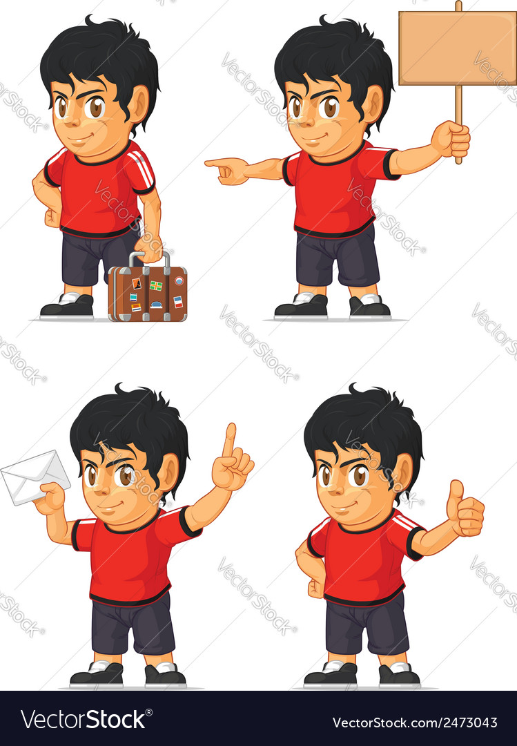 Soccer boy customizable mascot 17 vector | Price: 1 Credit (USD $1)