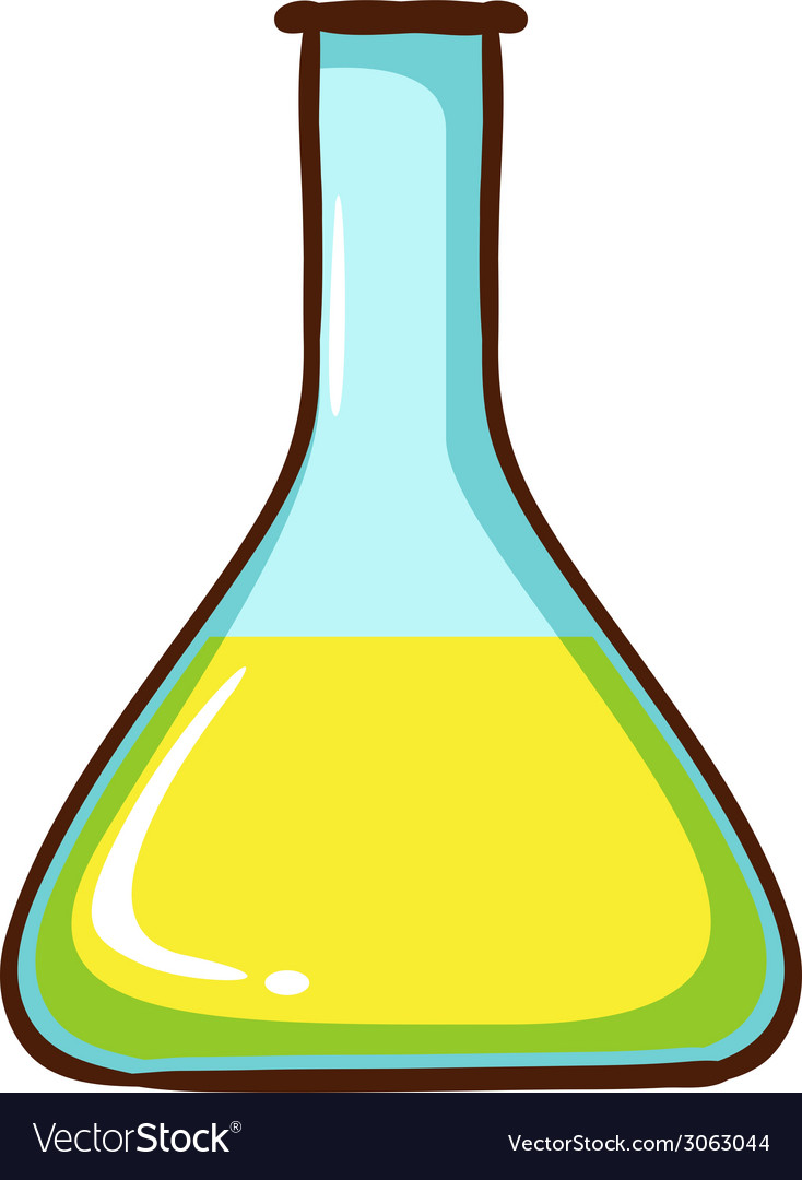 A simple coloured sketch of a lab glassware vector | Price: 1 Credit (USD $1)