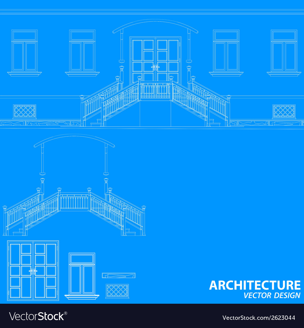 Blue architecture background vector | Price: 1 Credit (USD $1)